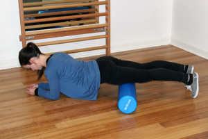 Foam rolling the quadriceps
