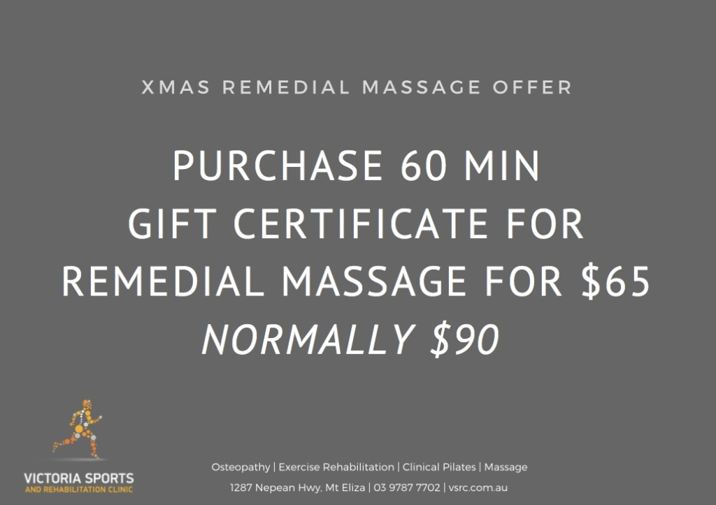 Xmas Massage Offer